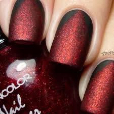 44 black and red nail polish designs nails in pics