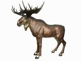 size standing moose statue ii