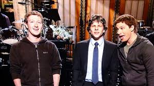 Sofa King Saturday Night Live by Mark Zuckerberg Was Guest With Jesse Eisenberg On