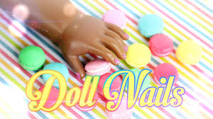 diy how to make painted doll nails handmade doll crafts