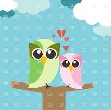 couple of owls in love cartoon style st valentine u0027s day card