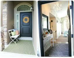 Foyer Ideas For Small Spaces - our home tour front porch and entryway