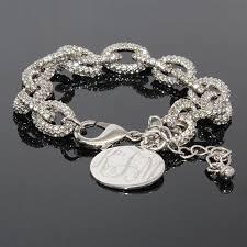 monogram bracelet silver silver monogrammed bracelet link bracelet bracelet monogram