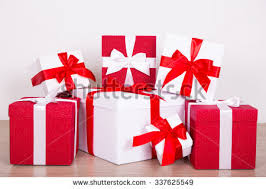 christmas gift boxes on white background stock photo 513271648