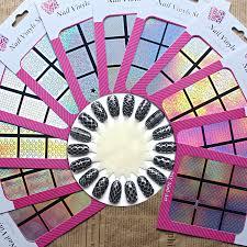 aliexpress com buy 1 pcs vinyls print nail art 24 design hollow