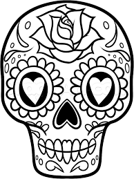 how to draw a sugar skull easy by skulls pop culture