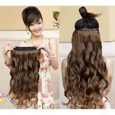 one clip in hair extensions one beautiful 50 60cm wavy hair extension clip on 5