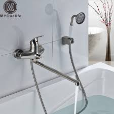 bathtub faucet wall mount best quality long outlet spout bathtub faucet wall mounted longer