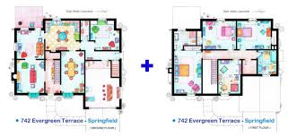 simpsons house floor plan the house of the simpsons individual floorplans