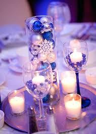 Wedding Table Number Ideas Xmas Wedding Table Decorations Blue Silver Winter Wonderland