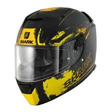 speed r sauer motorcycle helmet shark speed r sauer matte black yellow helmet