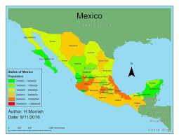 Central Mexico Map by Gislayin Gis Cartography