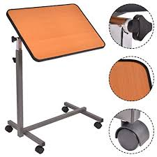 acrobat professional overbed laptop table amazon com asomie rolling overbed table over bed laptop table food