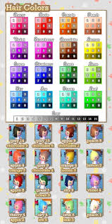 acnl hair hair custom design colour guide animal crossing amino