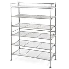 seville classics 3 tier mesh utility shoe rack in gray 2 pack