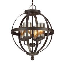 Glass Orb Chandelier Shop Sea Gull Lighting Sfera 18 5 In Autumn Bronze Wrought Iron