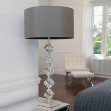 clear crystal bulb table lamp inside chandelier table lamp