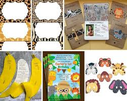 jungle theme birthday party jungle party ideas animal party ideas at birthday in a box
