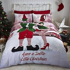 Double Christmas Duvet Catherine Lansfield Selfie Elfie Duvet Set Multi Double Amazon