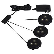 puck under cabinet lighting sea gull lighting ambiance lx led black puck light kit 98853sw 12