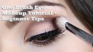 one brush eye makeup tutorial beginner tips youtube