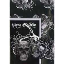 skull wrapping paper skulls gift wrap and card set wrapping paper at the works