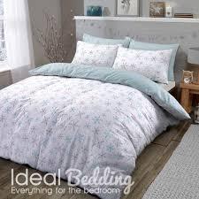 Flannelette Single Duvet Cover Flannel Xmas Snowflake Duvet Set And Pillowcase Bedding Set Duvet