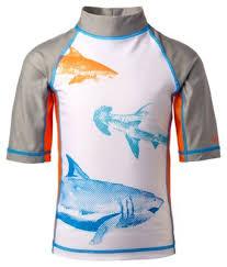 uv skinz shark short sleeve swim shirt toddlers kids bass