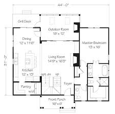 16 x 24 floor plan plans by davis frame weekend timber frame may isle cottage southern living house plans