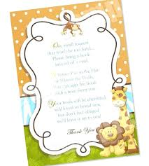 baby shower notes baby shower invitation wording book instead of card meichu2017 me