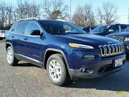 jeep cherokee 2016 2016 true blue pearl jeep cherokee latitude 4x4 111105711