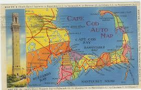 playle u0027s cape cod massachusetts auto map postcard 1946 store