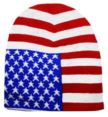Blue White Red White Blue Flag American Flag Beanie Patriotic Skull Cap Stars And Stripes Red