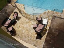 Travertine Patio Travertine Tile Vs Ceramic Tile For Outdoor Patio Usage