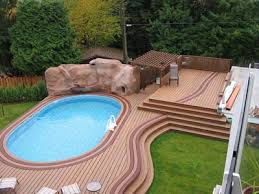 above ground pool decks a way to create paradise in your back