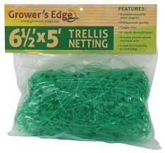 grower u0027s edge green trellis netting 6 5 x 25 foot 6