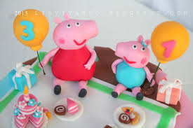 cake children peppa pig cookie connection
