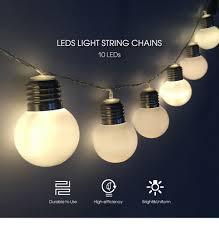 aa battery light bulb 10 leds ball bulb light string decoration aa battery operated