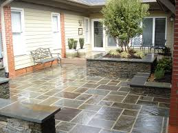 Slate Rock Patio by Outdoor Living With Beacon Hill Flagstone Paver Patio Ideas