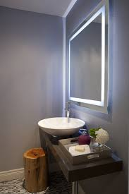 Contemporary Bathroom Mirrors by Led Mirror Lights Bathroom Contemporary With Built In Sink