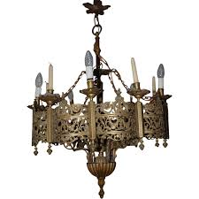 Bronze Chandelier Lighting Sold To Dr Rolph A Antique Bronze 6 Light 6 Candle
