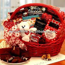 Valentine S Day Gift Baskets Heart Shape Wicker Gift Basket For Valentine U0027s Day Buy