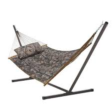 backyard creations camouflage hammock with stand at menards