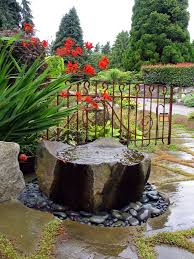 Outdoor Water Features With Lights by Pondless Water Feature Landscape Contemporary With Outdoor