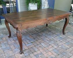catalog french and english antiques new antique country french oak dining table with draw leaf and lovely parquet top
