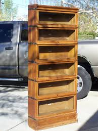 6 section antique lawyer barrister bookcases for sale antique
