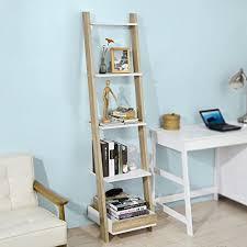 bureau echelle 17 sobuy frg229 wn étagère échelle escalier bibliothèque 5