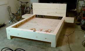 Basic Platform Bed Frame Plans by Diy Platform Bed With Floating Nightstands Diy Platform Bed