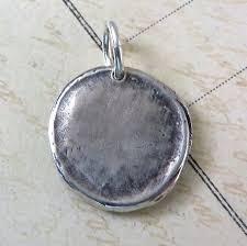 medallion necklace silver images Wax seal saint benedict medallion necklace sterling silver antique jpg