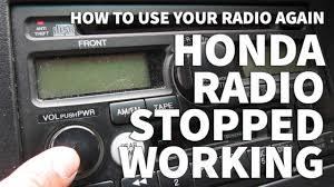 honda odyssey anti theft radio code honda odyssey radio stopped working anti theft light still